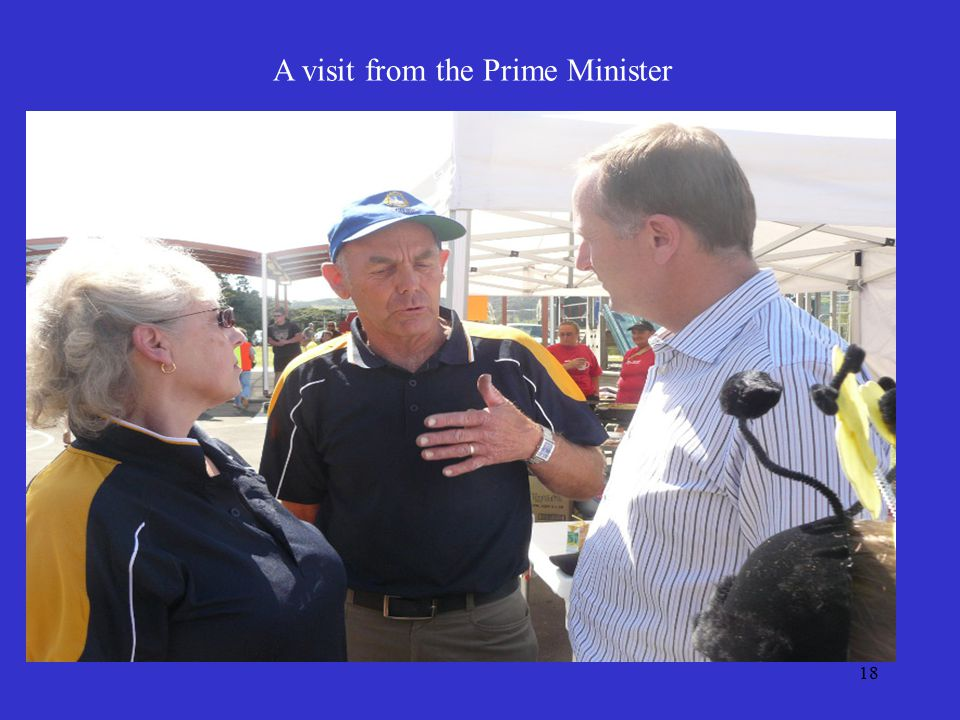 18 A visit from the Prime Minister