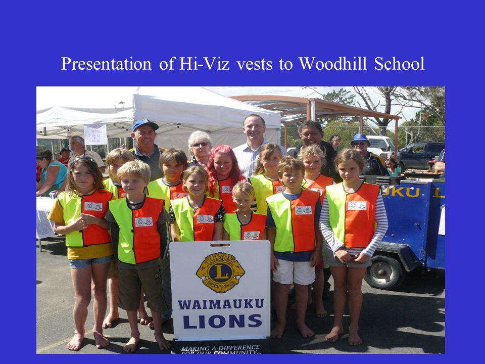 27 Presentation of Hi-Viz vests to Woodhill School
