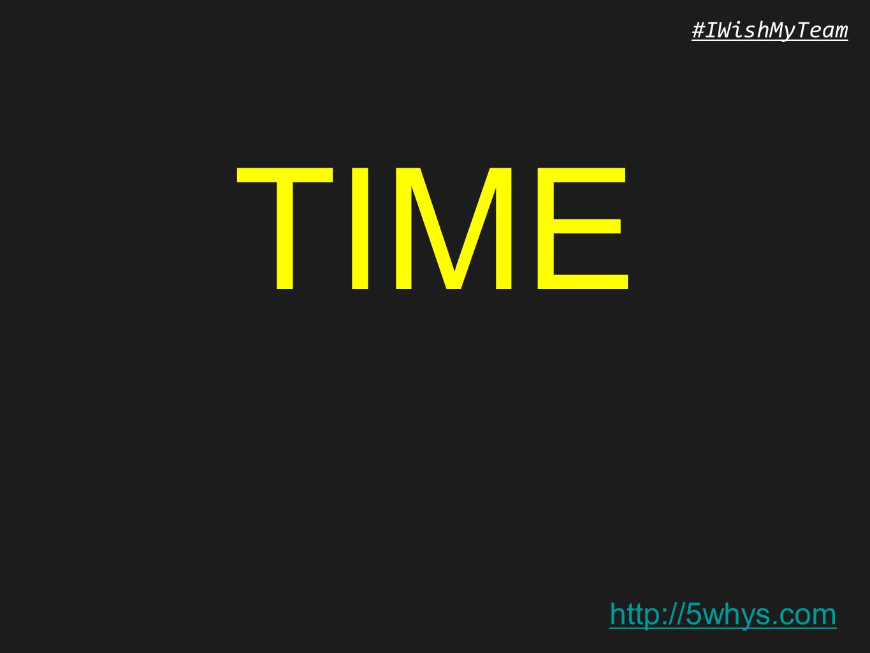 http://5whys.com #IWishMyTeam TIME
