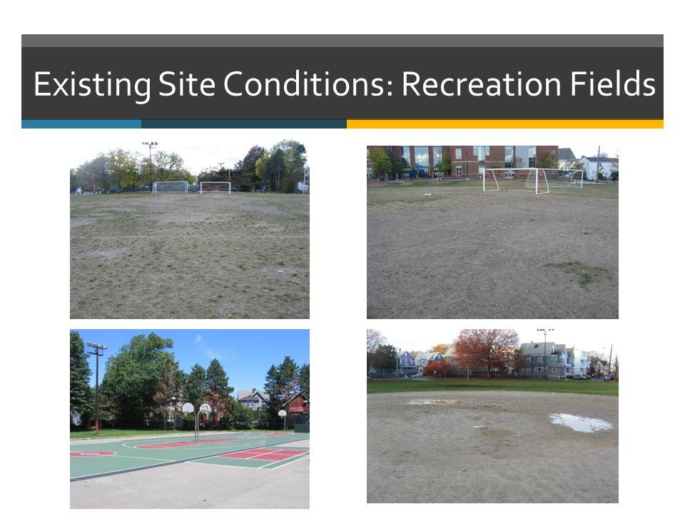 Existing site conditions:Asphalt and Concrete