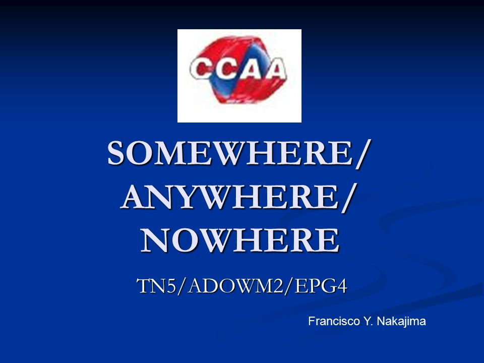 SOMEWHERE Affirmative sentences: Let´s go somewhere tonight.