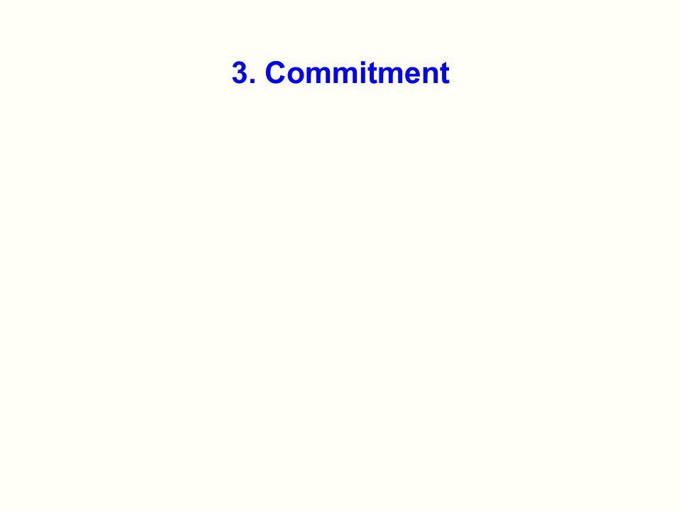 3. Commitment