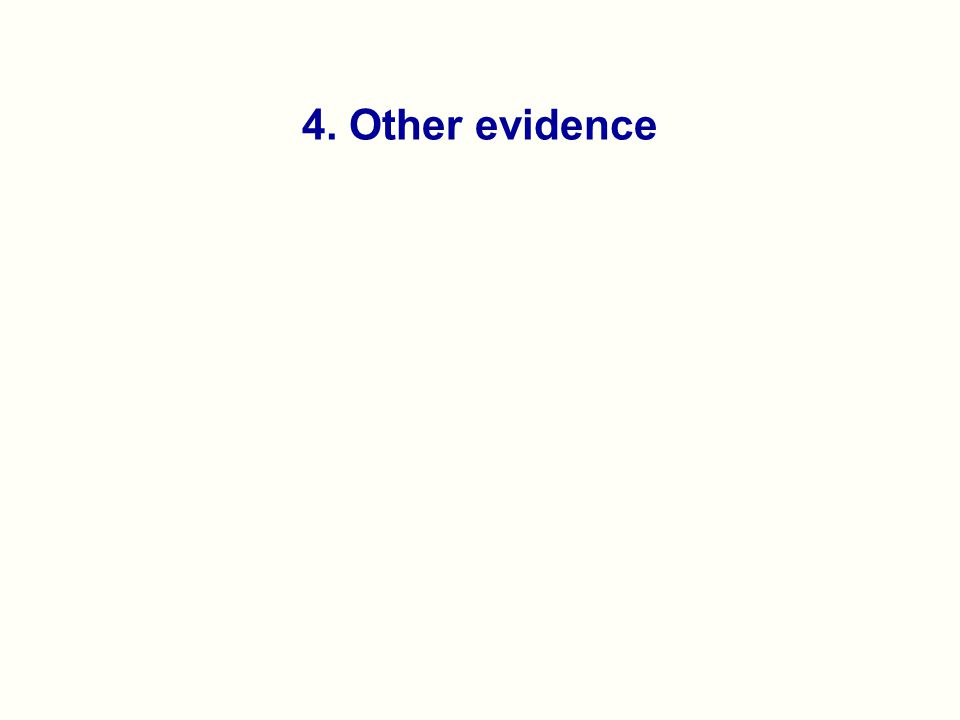 4. Other evidence