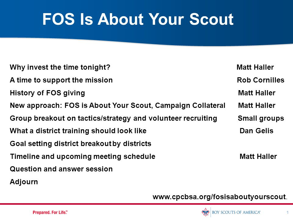 1 Why invest the time tonight? Matt Haller A time to support the mission Rob Cornilles History of FOS giving Matt Haller New approach: FOS is About Yo