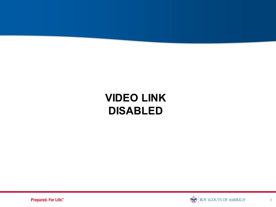 9 VIDEO LINK DISABLED
