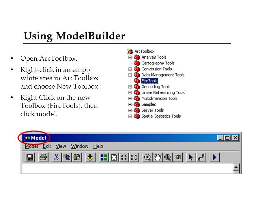 Using ModelBuilder.