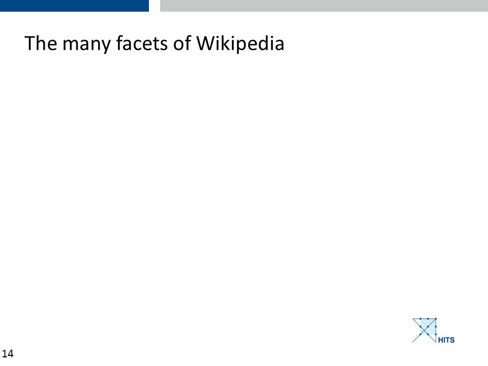 14 The many facets of Wikipedia