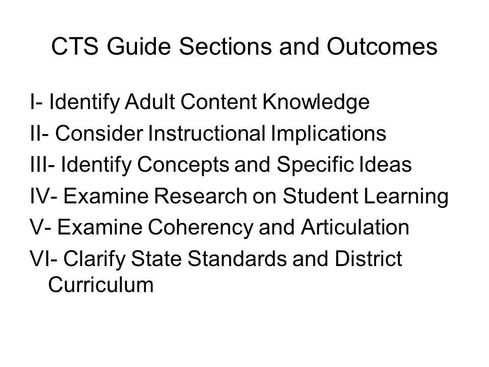 Applying CTS Results to An Instructional Scaffold