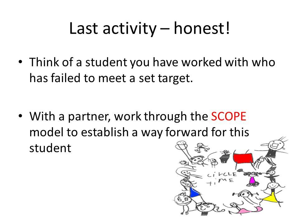Last activity – honest.