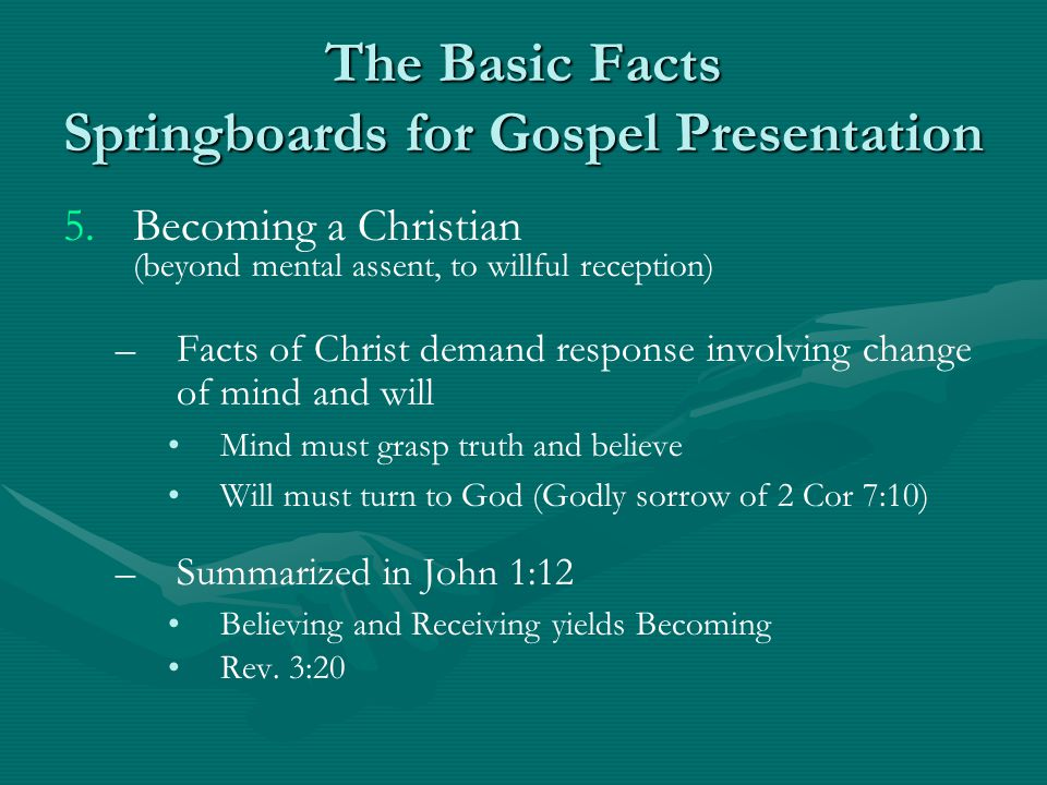 The Basic Facts Springboards for Gospel Presentation 5.