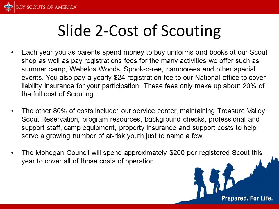 Slide 3-ScoutReach Here in the Mohegan Council we believe that everyone deserves the chance to try Scouting.
