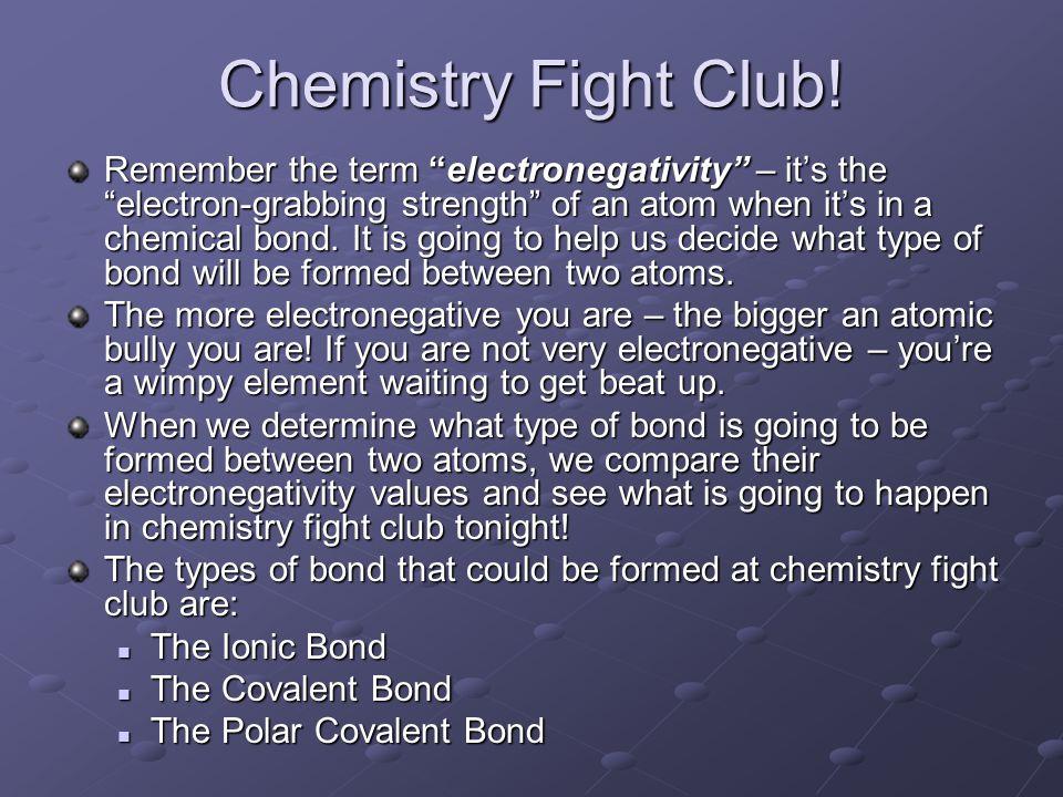 Chemistry Fight Club.