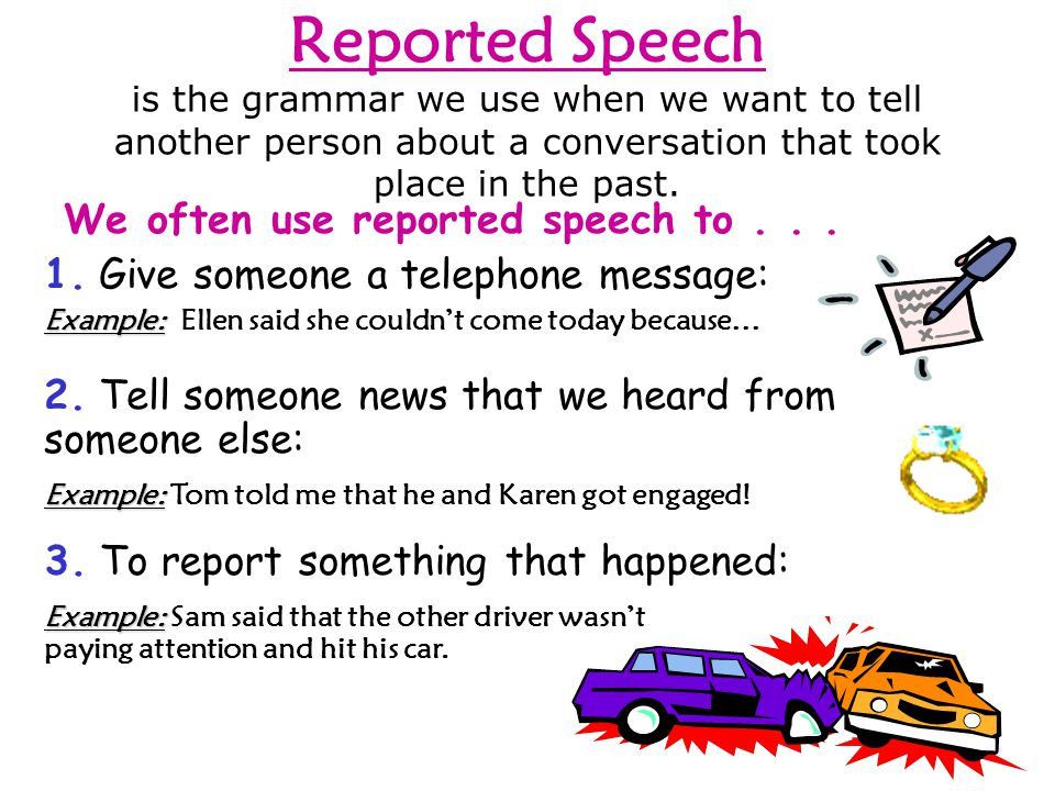 NOW BEFORE Do you understand reported speech better NOW than you did BEFORE.