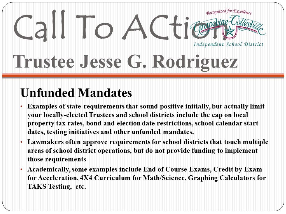 Call To ACtion Trustee Jesse G.