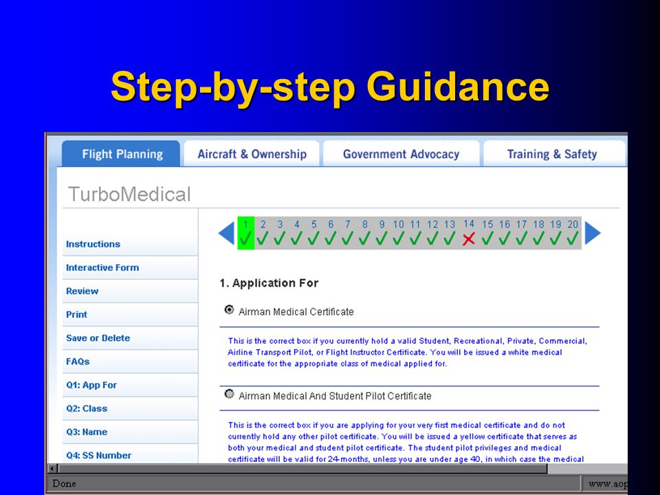 Step-by-step Guidance