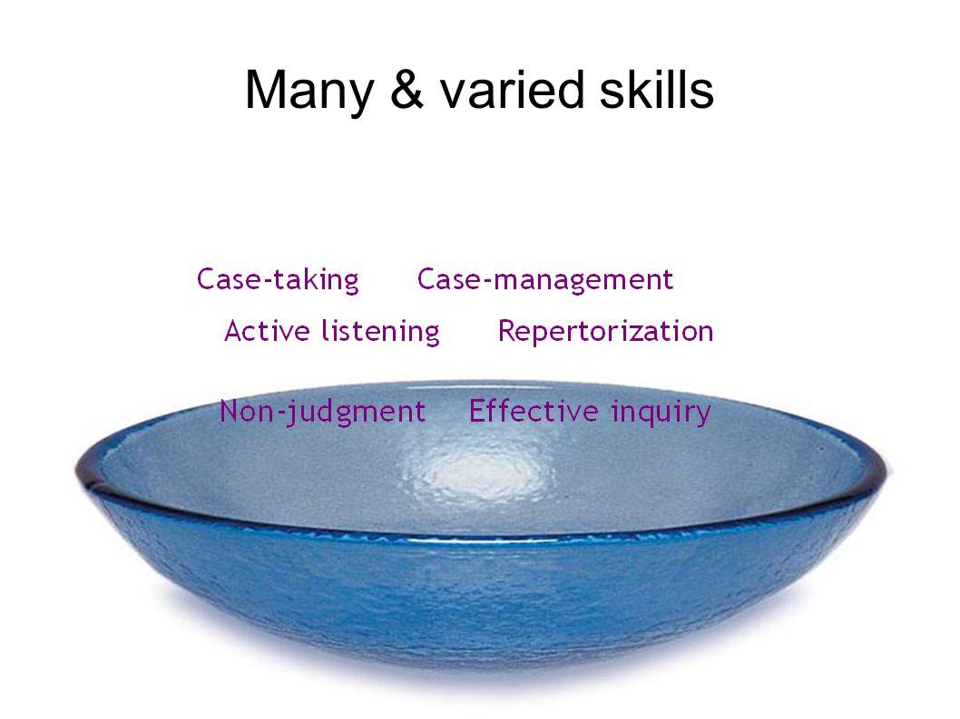 Many & varied skills