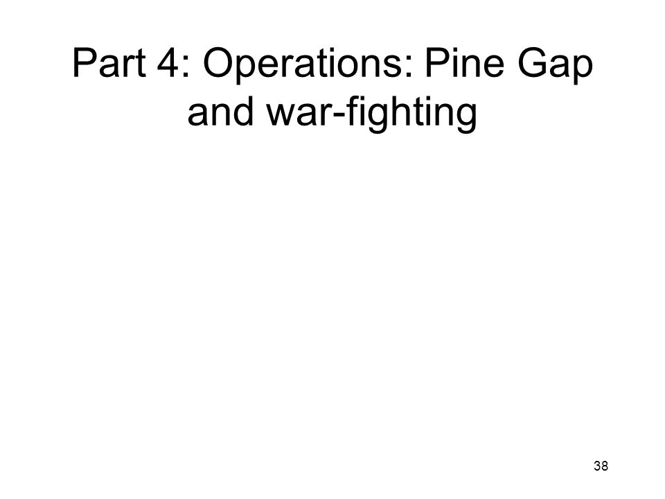 38 Part 4: Operations: Pine Gap and war-fighting