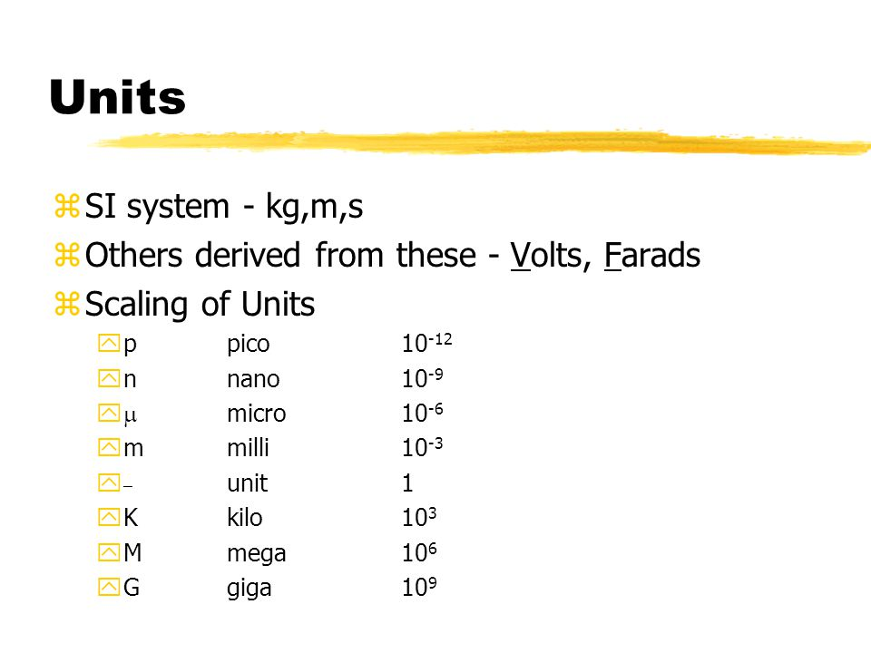 Overview of DC Circuits zUnits & Notation zWhat is a circuit.