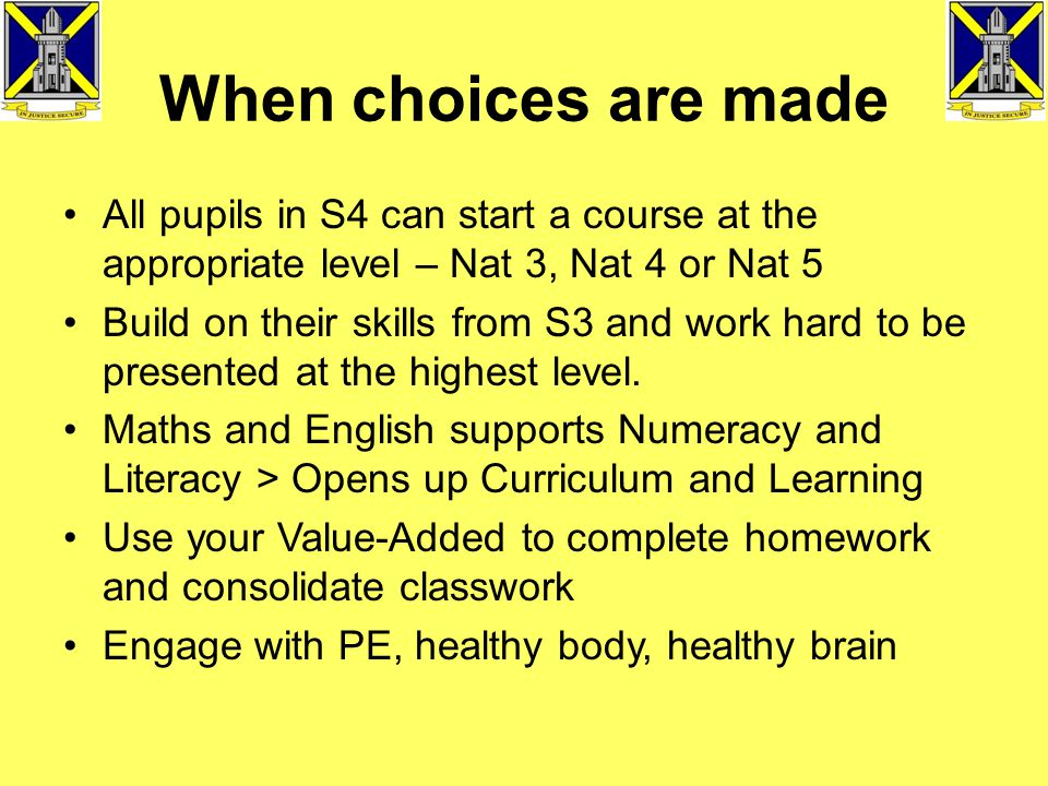 Mearns Academy Curriculum Structure 2014