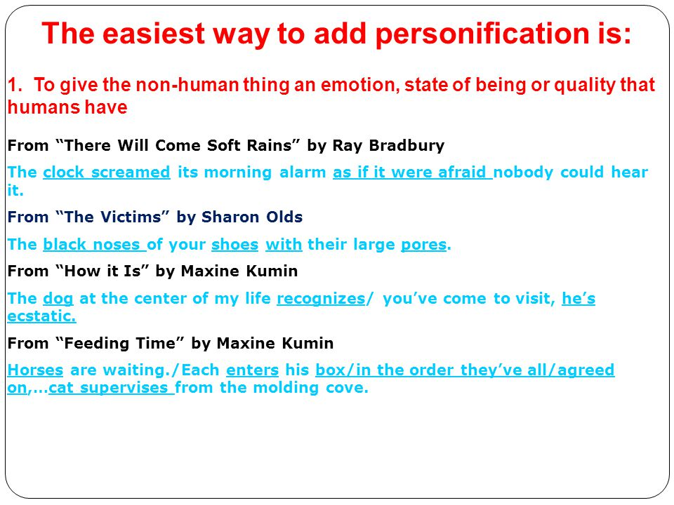 The easiest way to add personification is: 1.