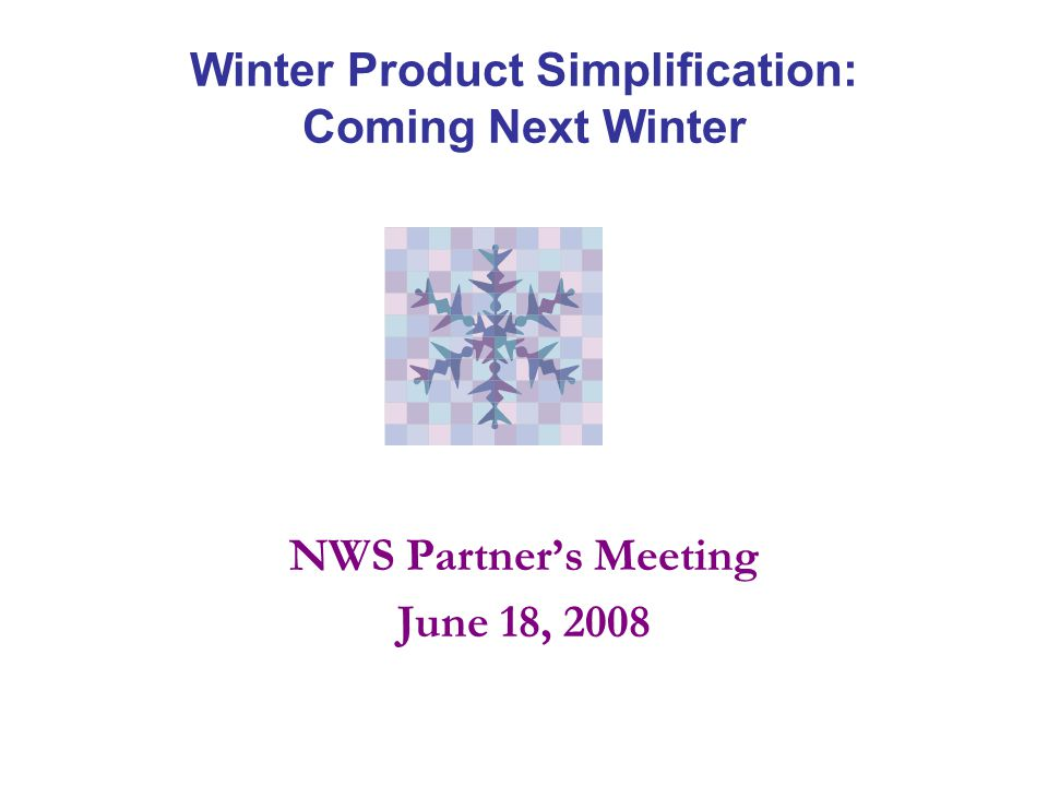 Background NWSI 10-513 (WFO Winter Weather Products) specifies a large suite of event-specific advisories and warnings related to winter weather hazards.