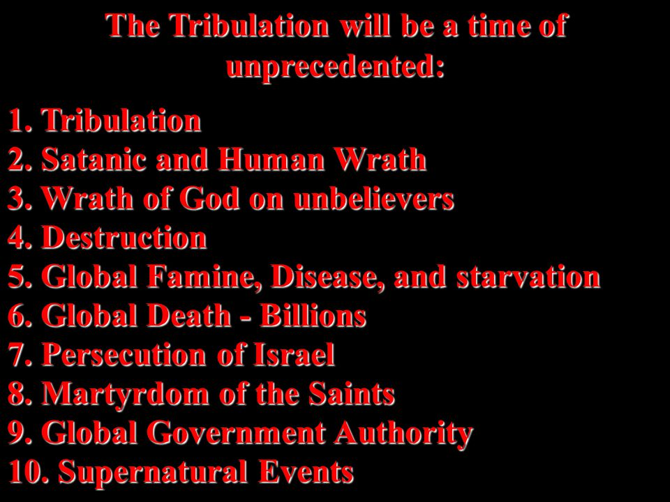 The Three-Fold Purpose of the 70 th Week There are only three stated reasons given in the scripture as to the purpose of a Great Tribulation .