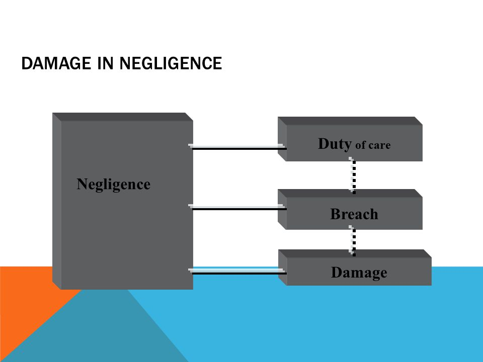 DAMAGE IN NEGLIGENCE Duty of care Breach Damage Negligence