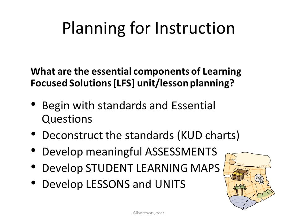 Develop The Student Learning Map The Student Learning Map is a plan for the unit of instruction.