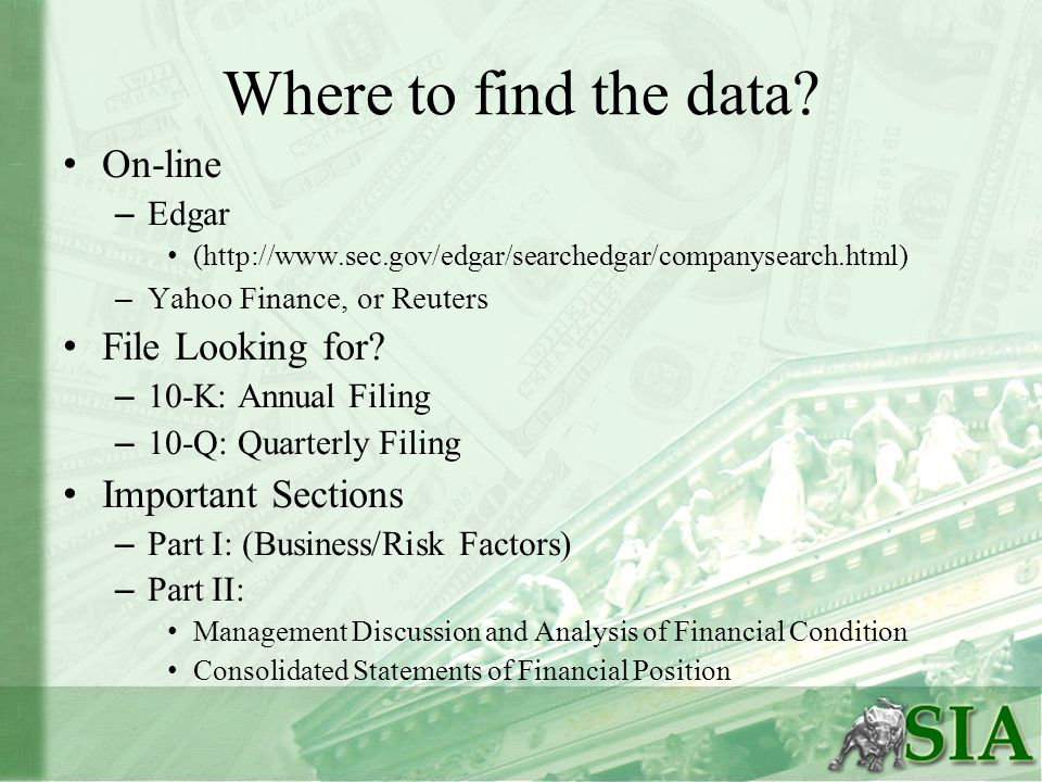 Where to find the data.