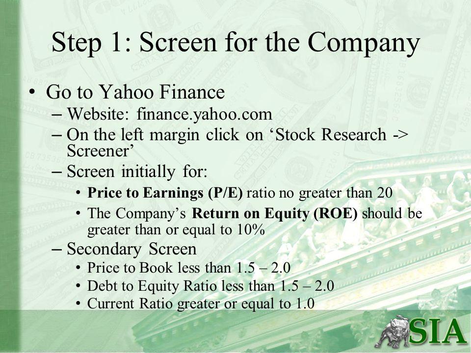 Step 2: Find the Financial Data Use: – Edgar (http://www.sec.gov/edgar/searchedgar/companysearch.
