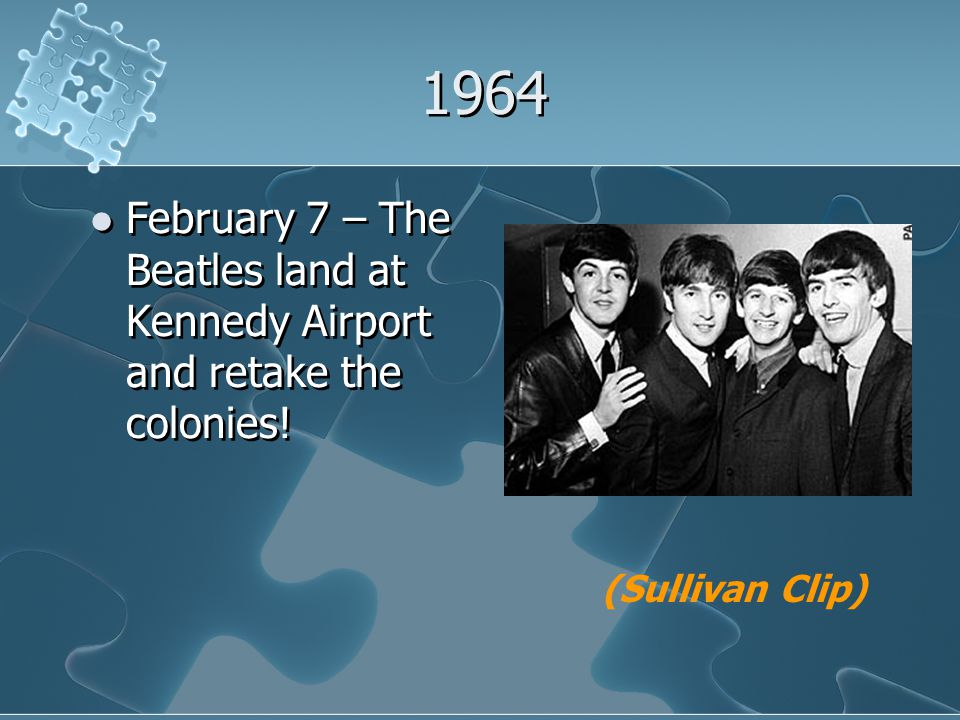 1964 February 7 – The Beatles land at Kennedy Airport and retake the colonies! (Sullivan Clip)