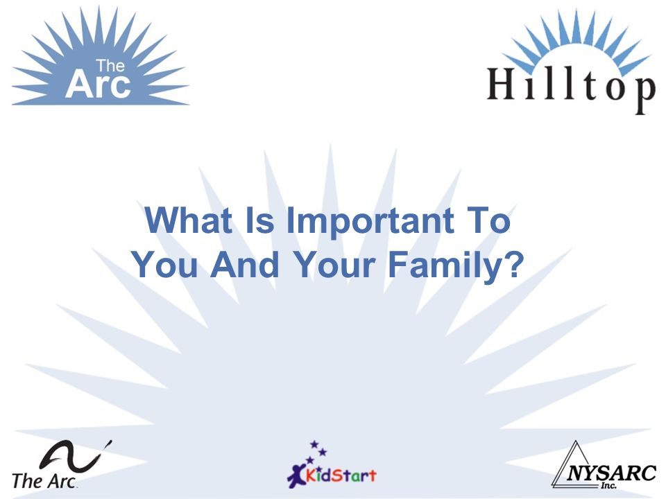 What Is Important To You And Your Family