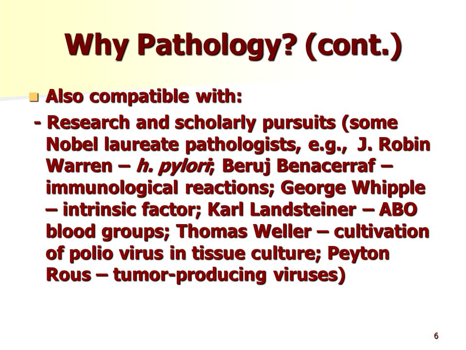 6 Why Pathology.