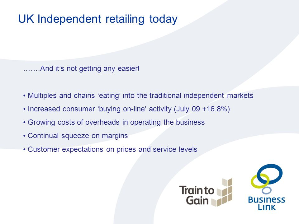 UK Independent retailing today …….And it's not getting any easier.