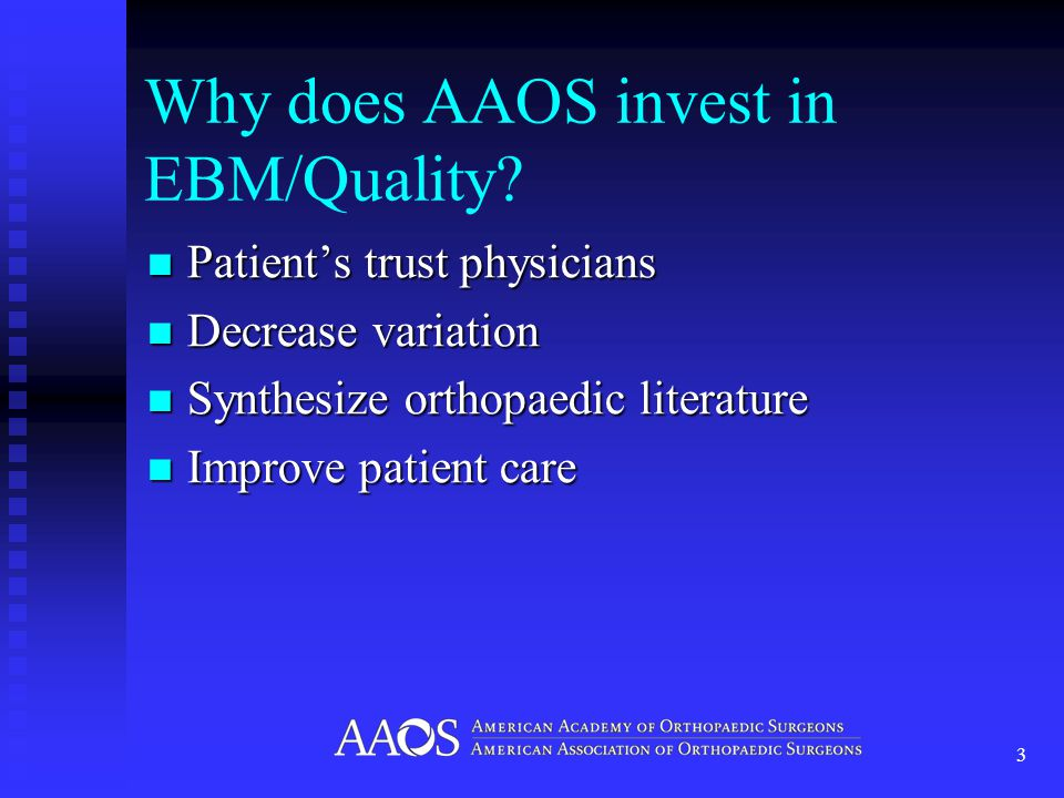 *Sinaiko and Rosenthal, AJMC, 2010 Who Will Define 'Quality' in Orthopaedics?