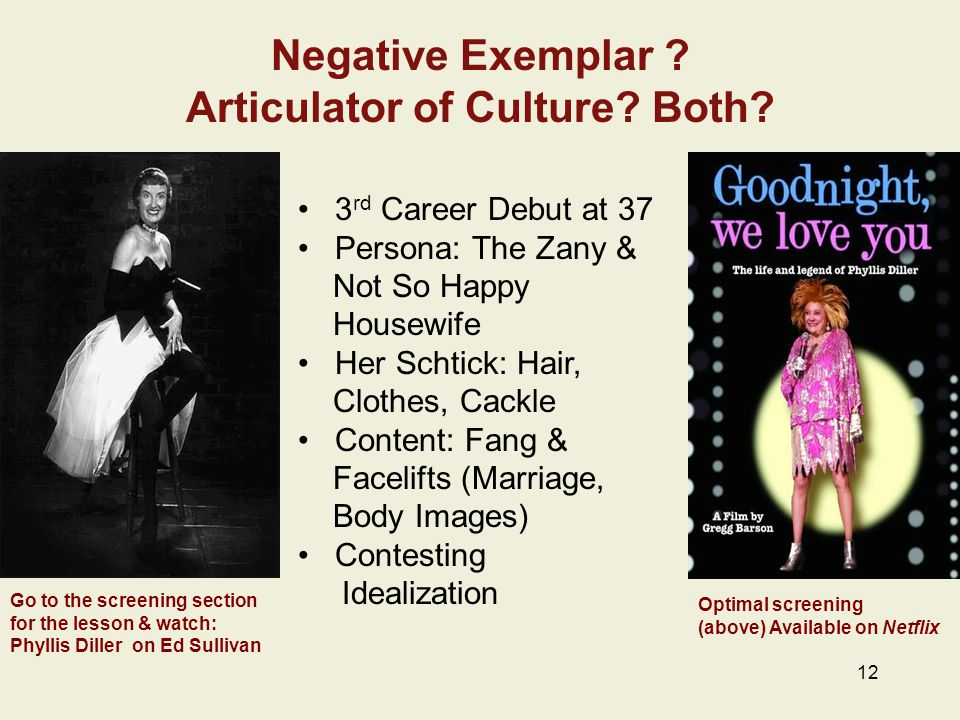 Negative Exemplar . Articulator of Culture. Both.