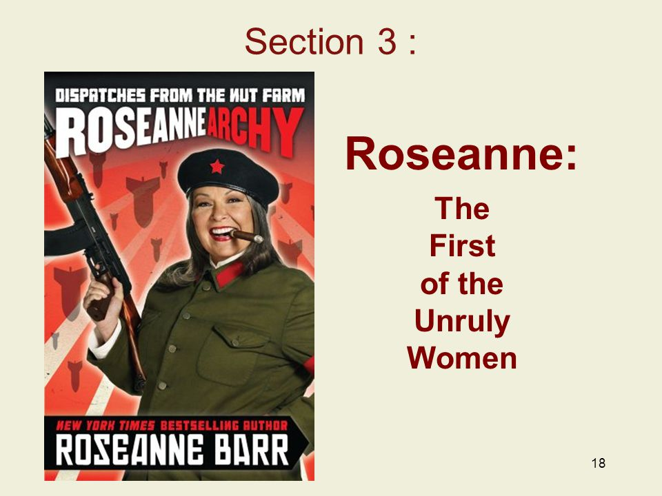 18 Section 3 : Roseanne: The First of the Unruly Women