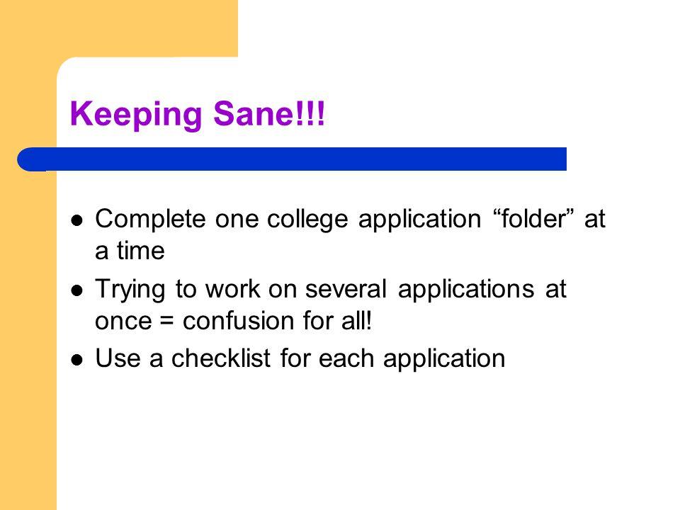 Keeping Sane!!.