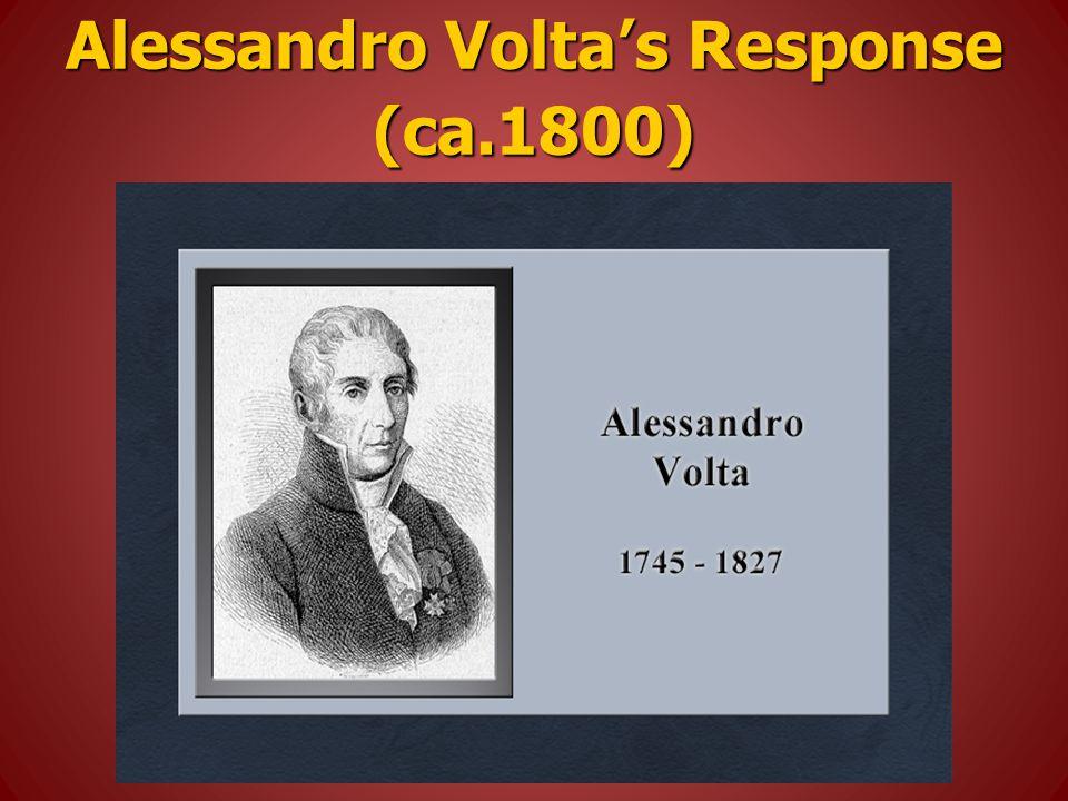 Alessandro Volta's Response (ca.1800)