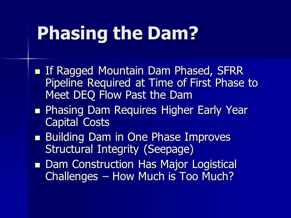 Phasing the Dam.
