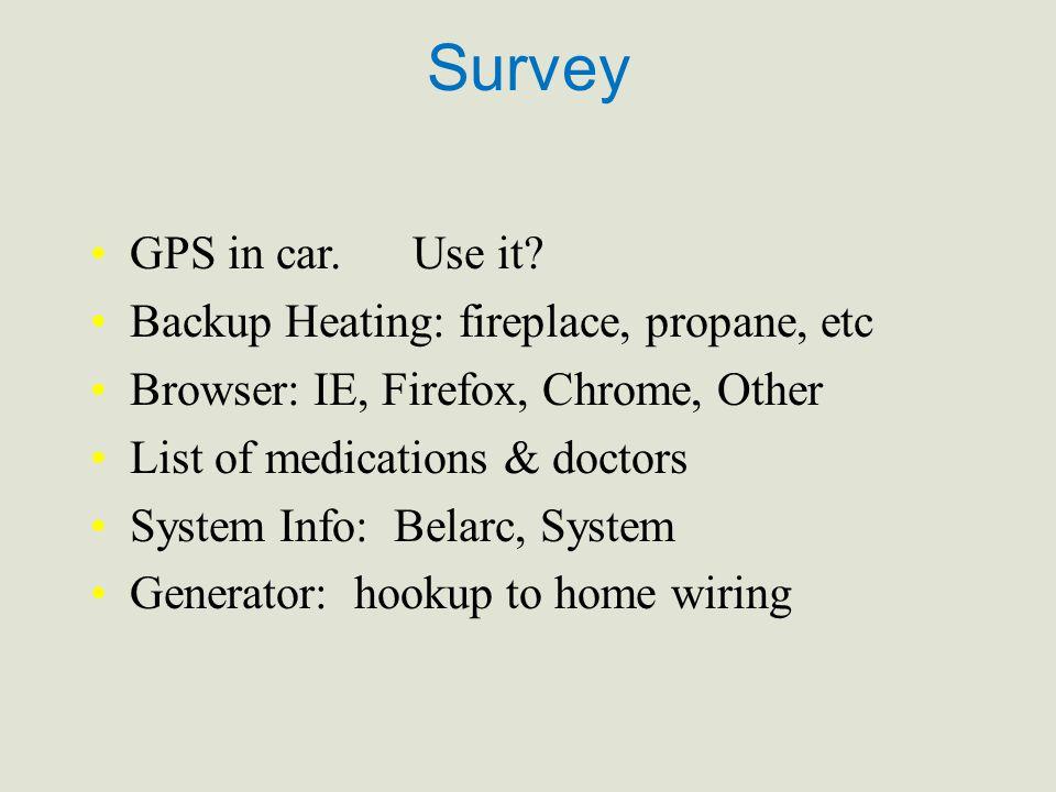 Survey GPS in car. Use it.