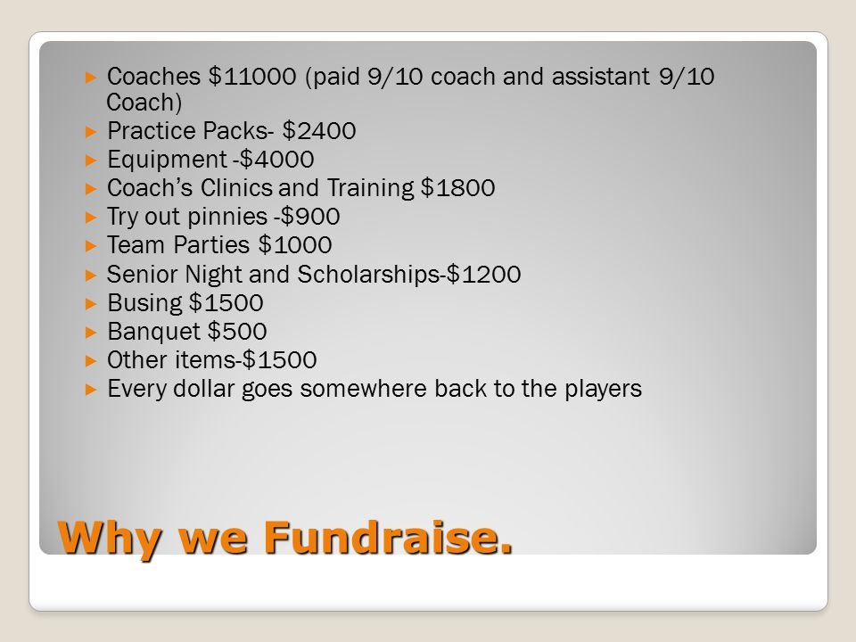 Why we Fundraise.