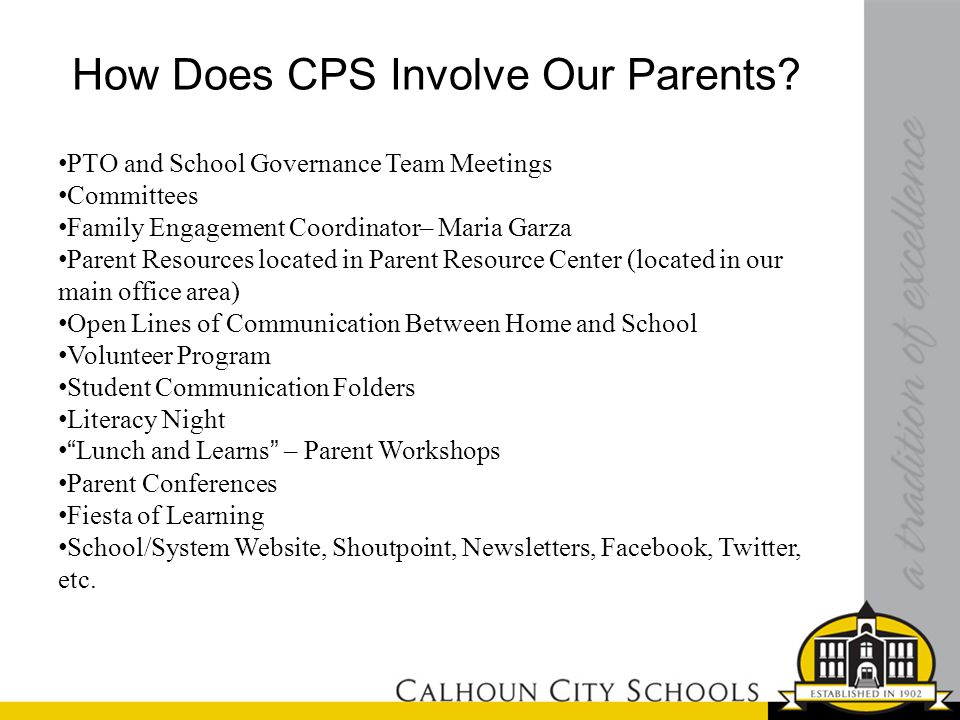 How Does CPS Involve Our Parents.