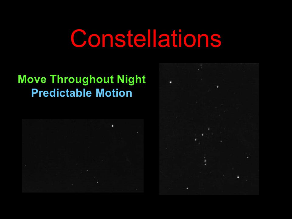 Constellations Move Throughout Night Predictable Motion