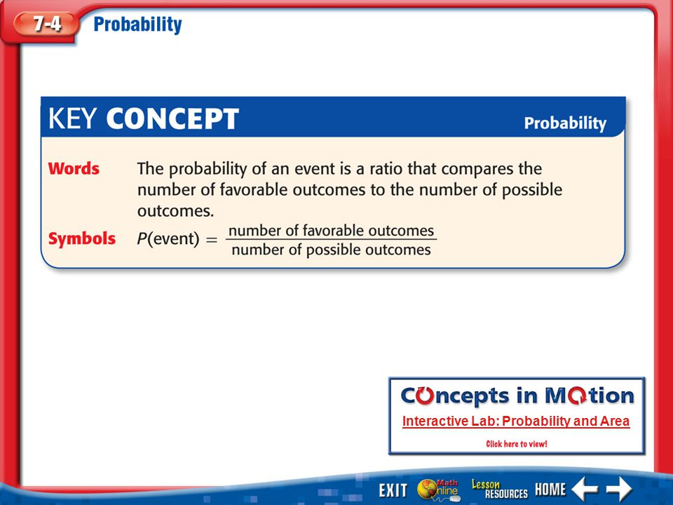 KC 1 Interactive Lab: Probability and Area