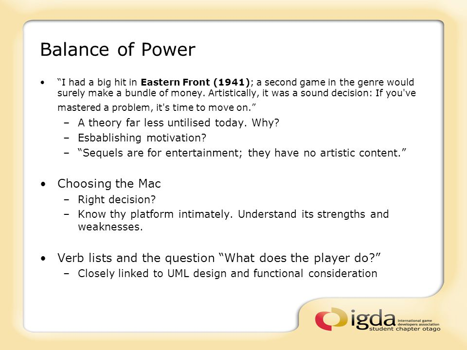 Balance of Power I had a big hit in Eastern Front (1941); a second game in the genre would surely make a bundle of money.
