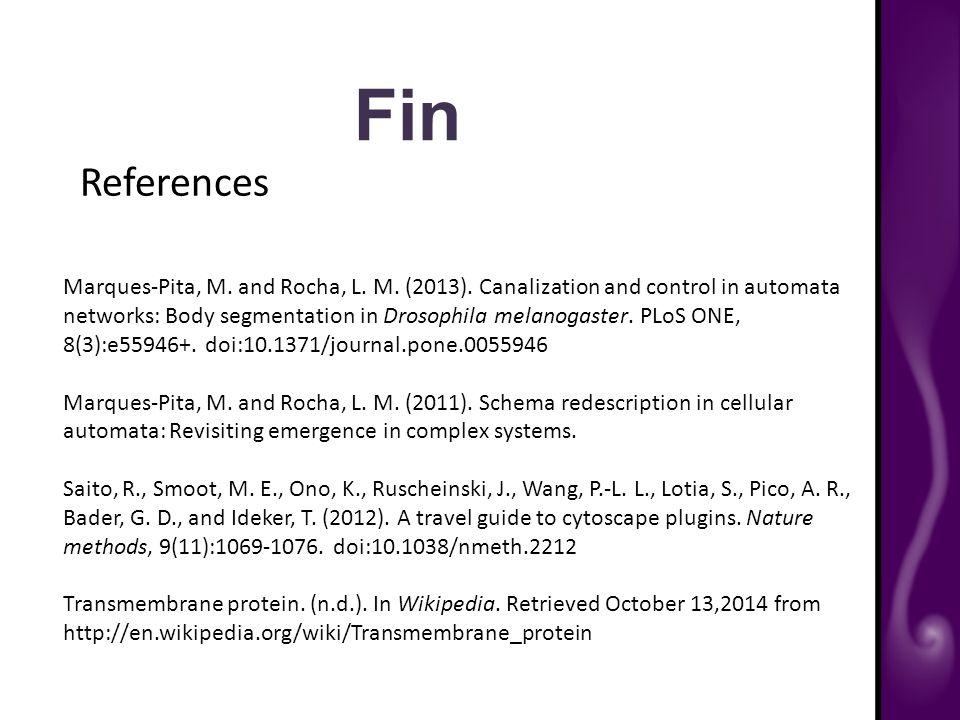 Fin References Marques-Pita, M. and Rocha, L. M.