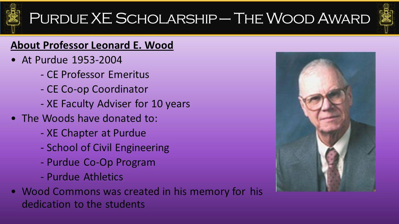 About Professor Leonard E.
