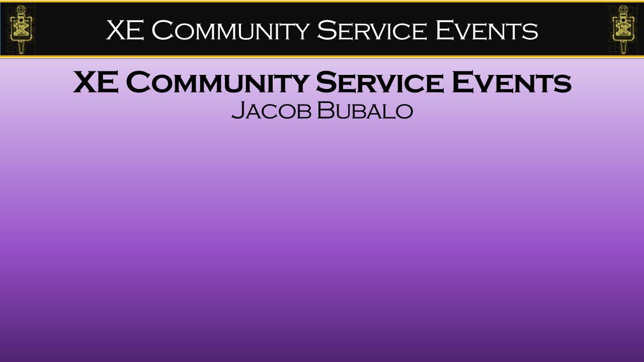 XE Community Service Events Jacob Bubalo
