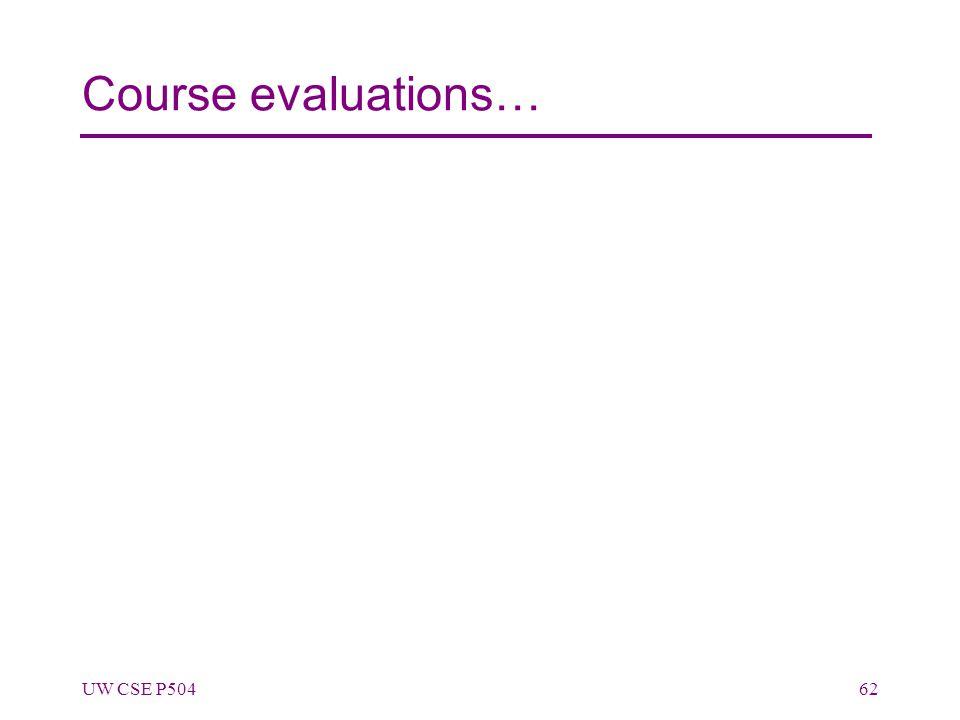Course evaluations… UW CSE P50462